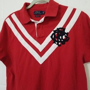 POLO RALPH LAUREN RUGBY POLO SHIRT Custom Fit PRL